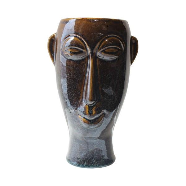 Mask fehsötétbarnaér porcelán váza, magasság 27,2 cm - PT LIVING