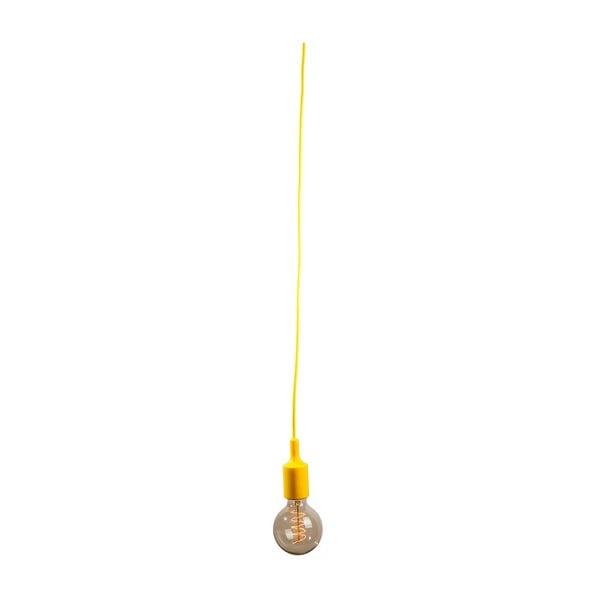 Textilní kabel s objímkou 1,5 m - žlutý