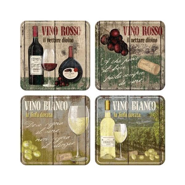 Sada 4 podtácků Postershop Vino