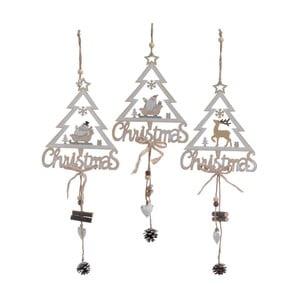 Set 3 decorațiuni de agățat InArt Tree