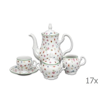 Set veselă din porțelan pentru cafea, motive florale Thun Bernadotte imagine