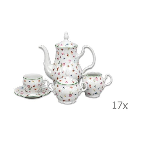 Porcelánová sada na kávu s motivem květin Thun Bernadotte