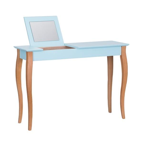 Dressing Table világos türkiz fésülködőasztal tükörrel, hossz 105 cm - Ragaba