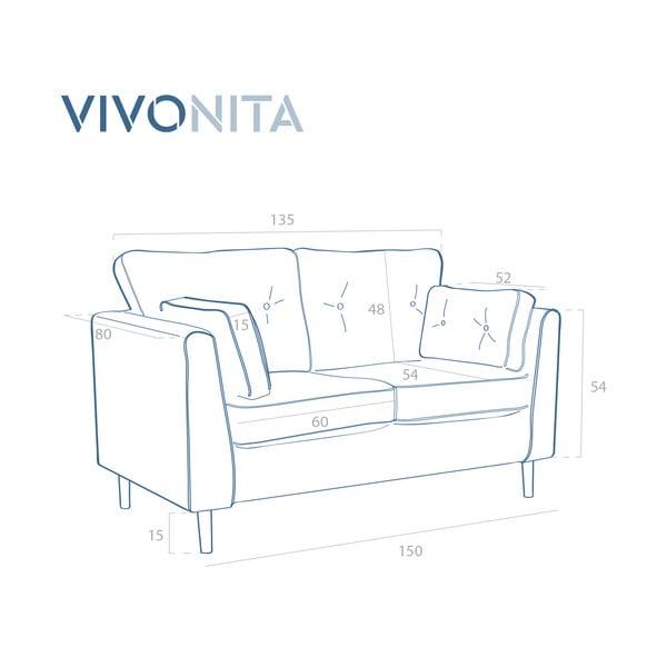 Canapea 2 locuri Vivonita Portobello, mov