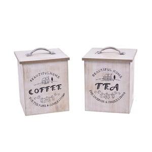 Set 2 cutii pentru ceai și cafea Ego Dekor Vintage