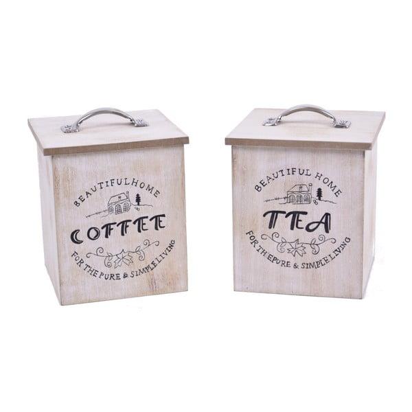 Súprava 2 boxov na čaj a kávu Ego Dekor Vintage