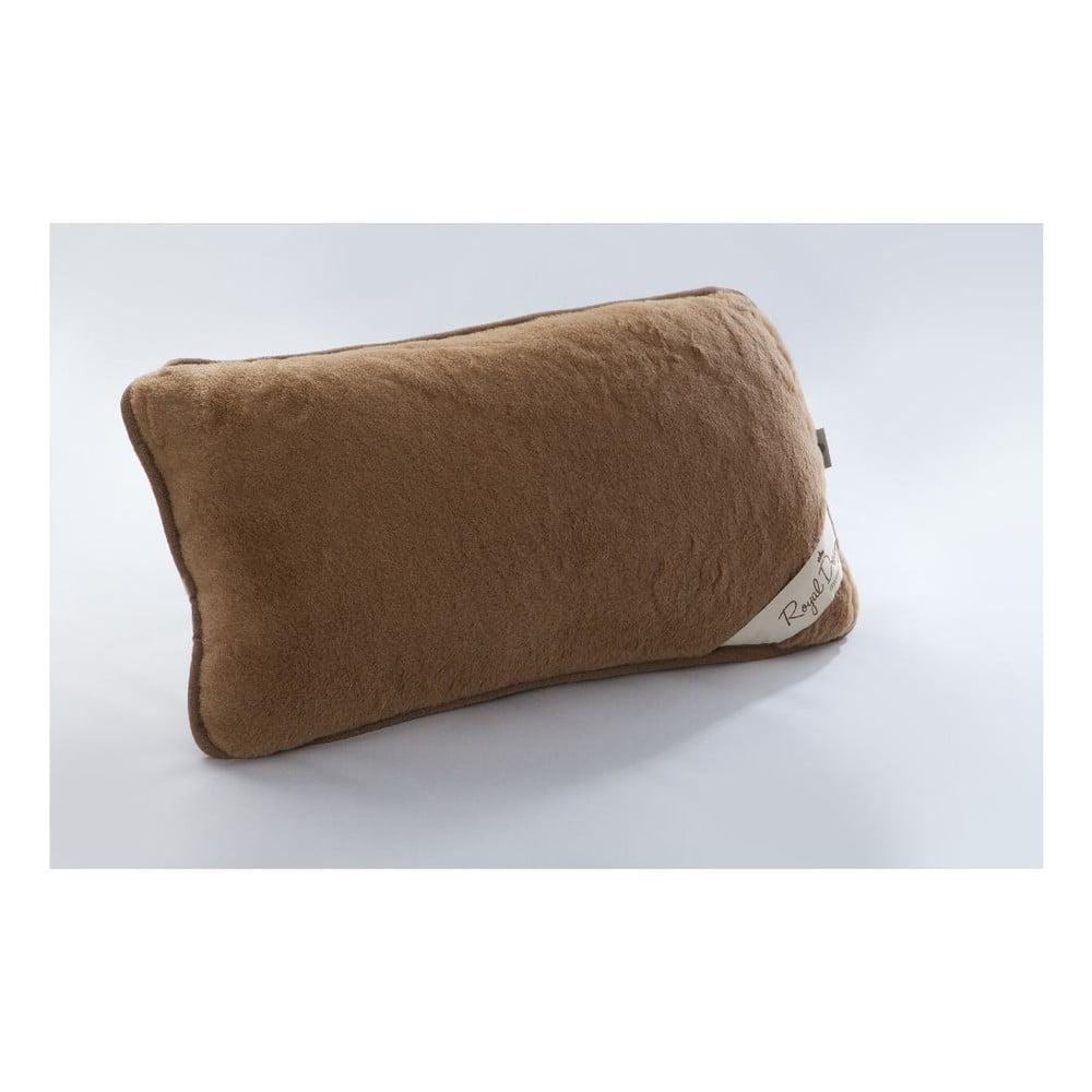 Vlněný polštář Royal Dream Cami Brown, 40 x 70 cm