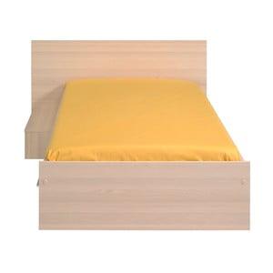 Jednolůžková postel v dekoru akáciového dřeva se zásuvkou Parisot Austina, 90x190cm