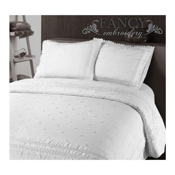 Bílé povlečení z mikroperkálu Sleeptime Rio, 140x220cm