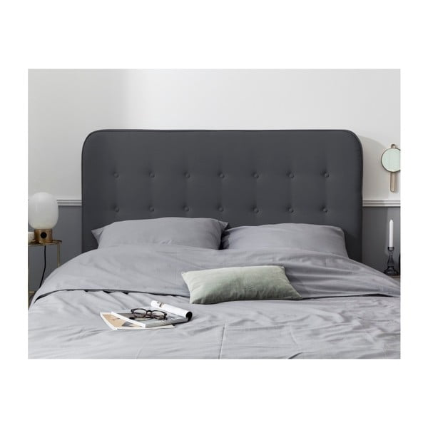 Tmavě šedé čelo postele HARPER MAISON Lana, 200 x 120 cm