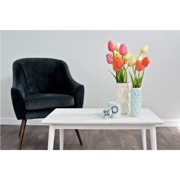 Bílo-mentolová váza Hawke&Thorn,výška22cm