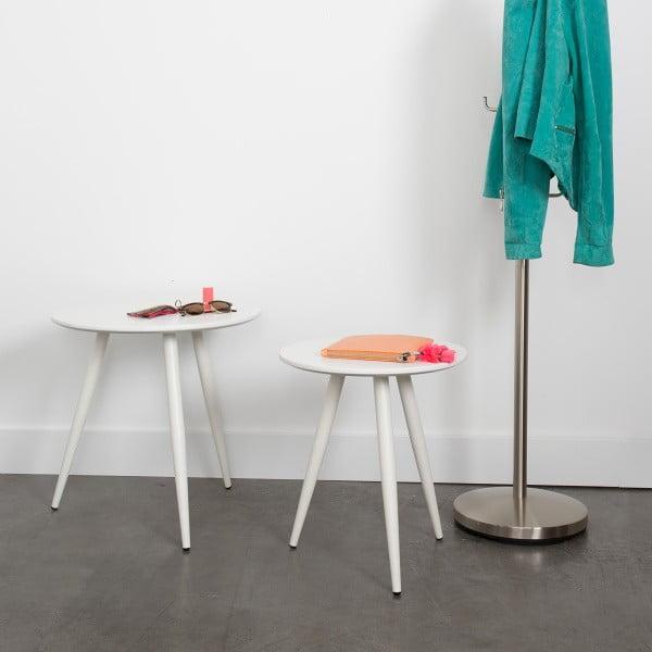 Bílý odkládací stolek Frost