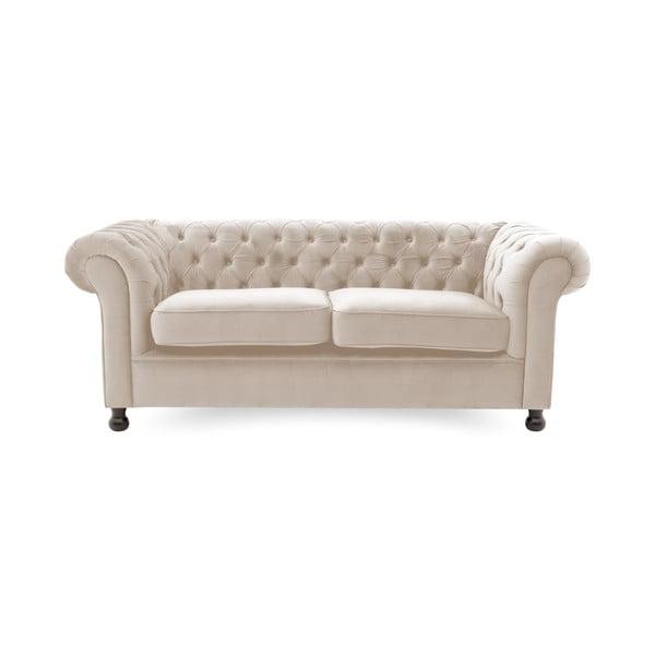 Canapea 3 locuri Vivonita Chesterfield Silky, gri deschis