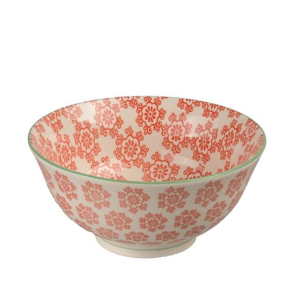 Porcelánová miska Animal Colored Red Flowers, 15.5 cm
