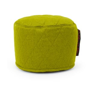 Zelený prošívaný sedací puf Pusku pusku Mini