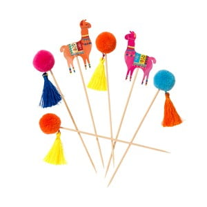 Set 12 scobitori Talking Tables Boho Lama Pom Pom
