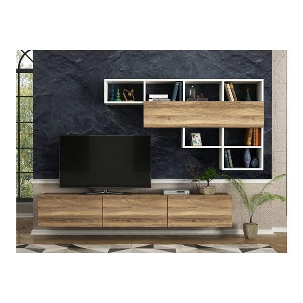 Zestaw szafki pod TV i półek Damla