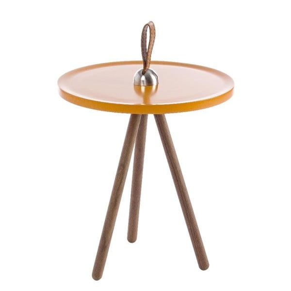 Odkládací stolek Leather Orange