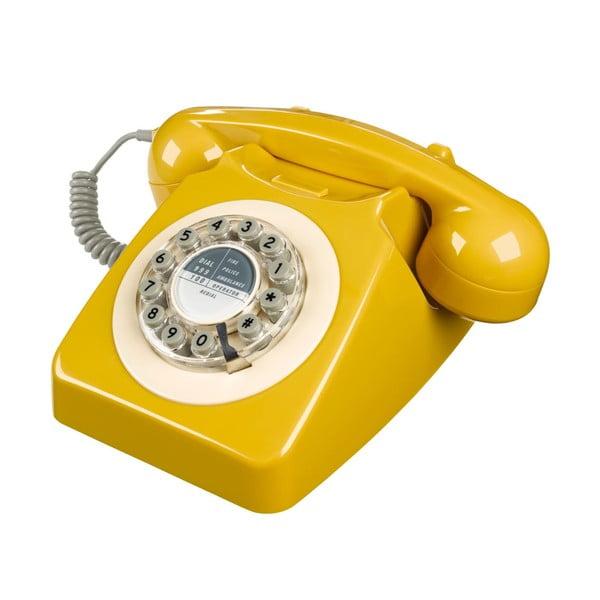 Retro funkční telefon Serie 746 Mustard