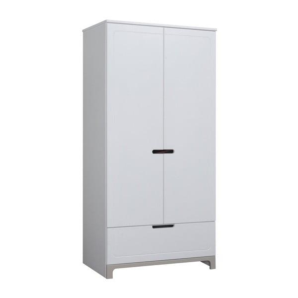 Mini fehér-szürke kétajtós ruhásszekrény - Pinio