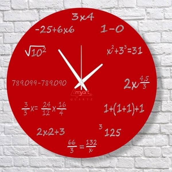 Nástěnné hodiny Red Maths
