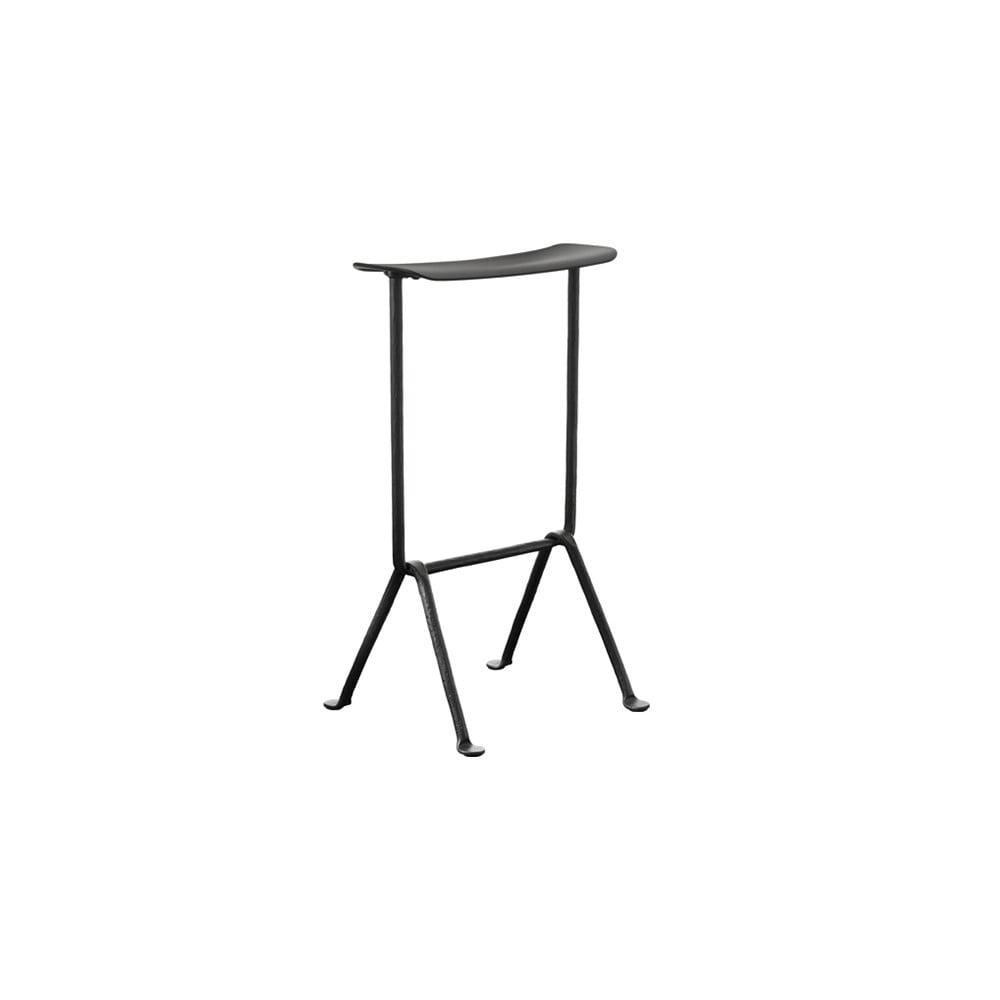 Černá barová židle Magis Officina, výška 75 cm