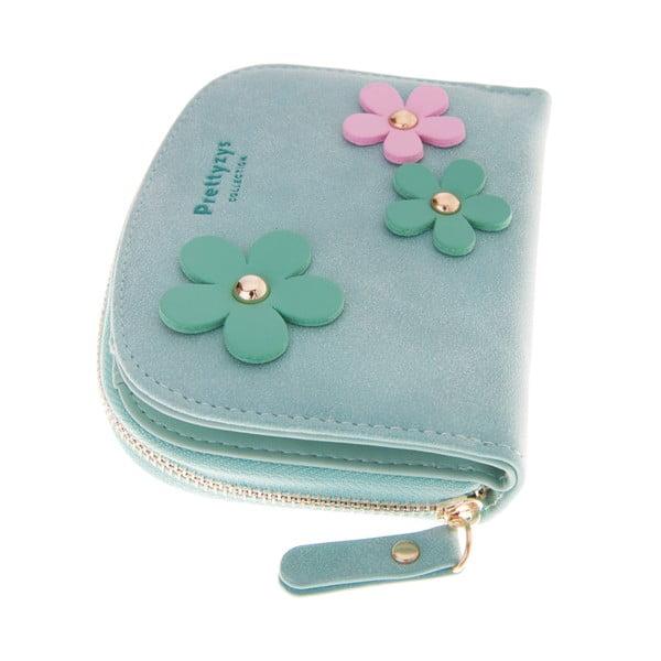 Malá peněženka Wild Flowers, zelená