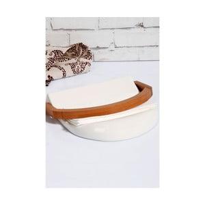 Porcelánový a bambusový držák na ubrousky Kosova Joey, 21,5x20x4cm