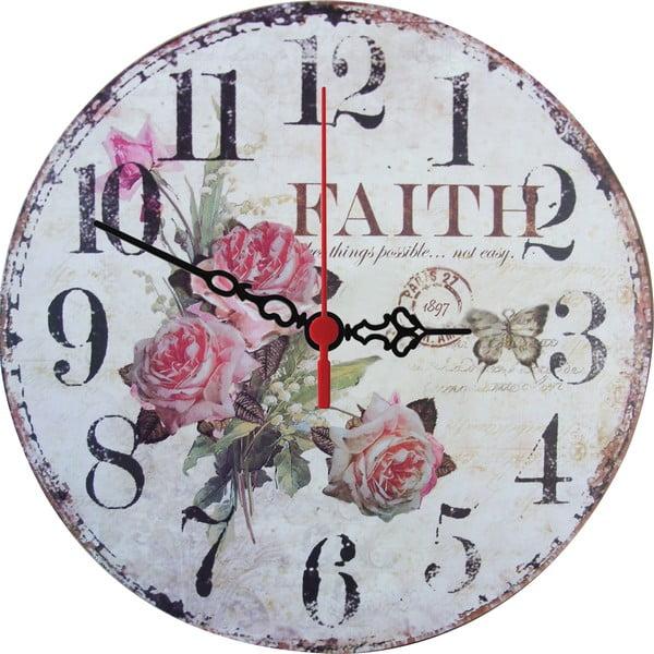 Nástěnné hodiny Faith, 30 cm