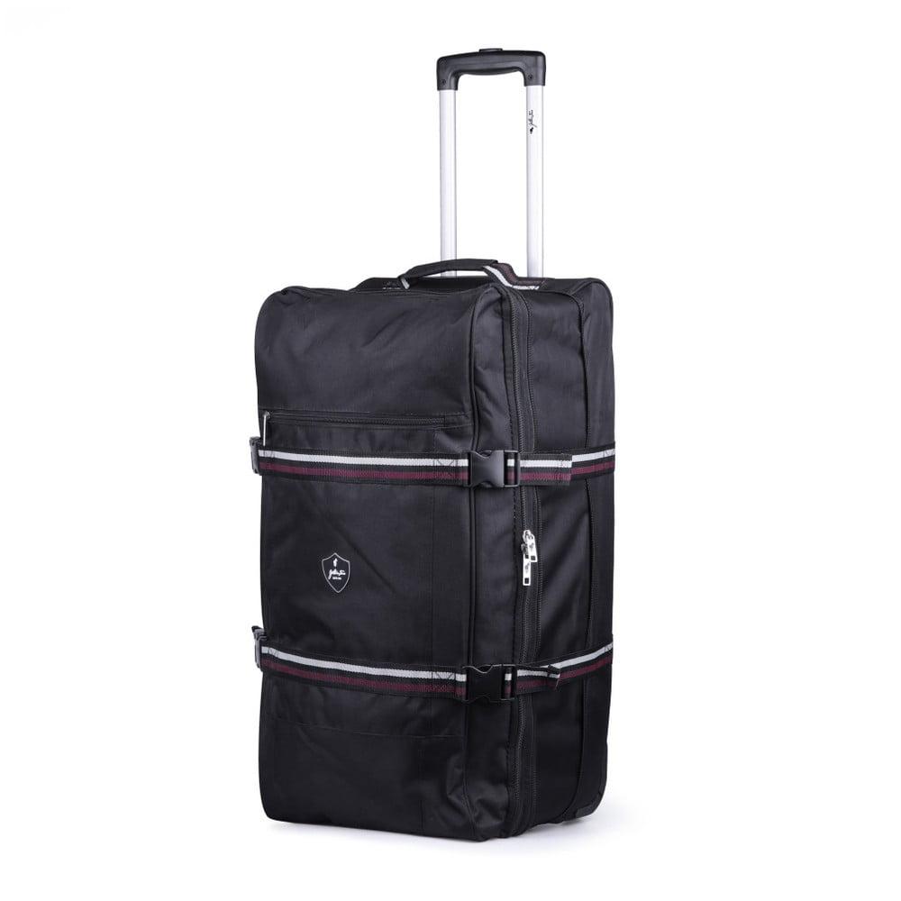 Černá cestovní taška na kolečkách GENTLEMAN FARMER Curreo, 80l