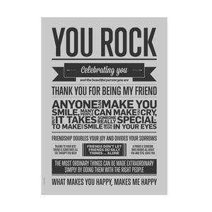 Autorský plakát You Rock Grey, 50x70 cm