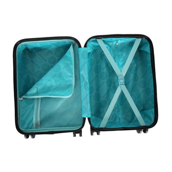 Tmavě šedé kabinové zavazadlo na kolečkách Travel World
