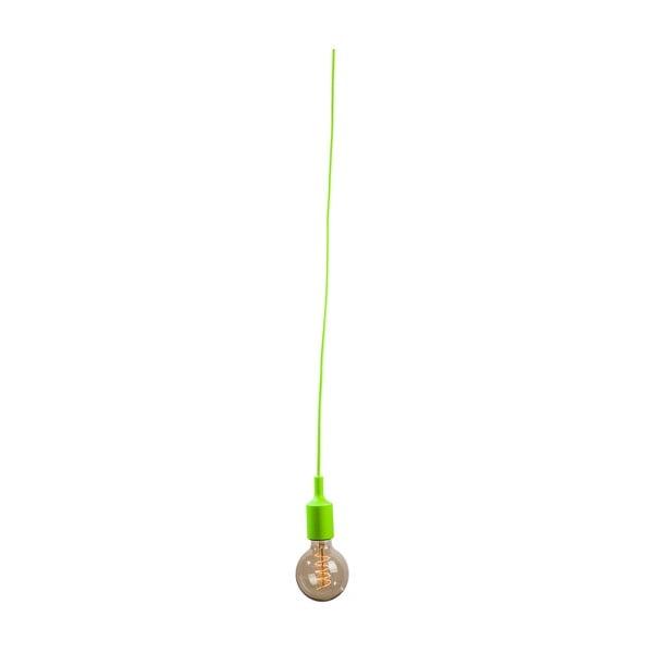 Textilní kabel s objímkou 1,5 m - zelený