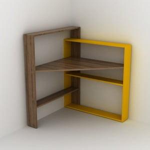 Pracovní stůl s úložnými prostory se žlutým detailem Rafeli Pisagor