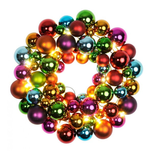 Svítící dekorace Ball Wreath