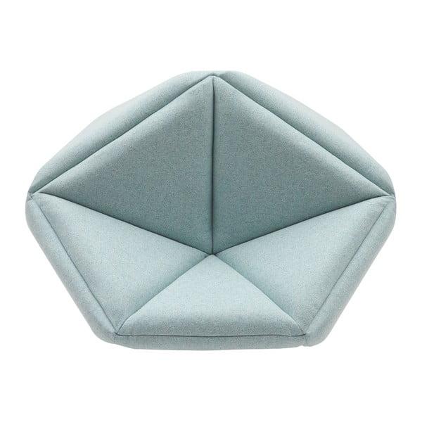 Světle modré křeslo Softline Fold