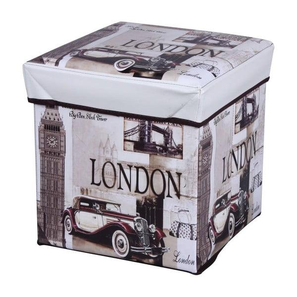 Taburetka s úložným prostorem London Puff