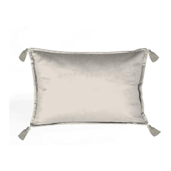 Sivá dekoratívna obliečka na vankúš Velvet Atelier, 50×35cm