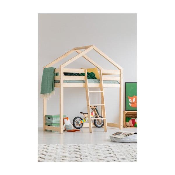 Mila DMPA házikó emeletes ágy borovi fenyőfából, 80 x 200cm - Adeko