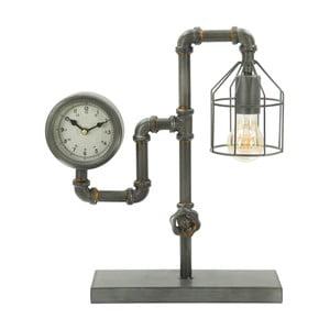Stolní lampa s hodinami Mauro Ferretti Industry Clock, 38,5 x 43,2 cm