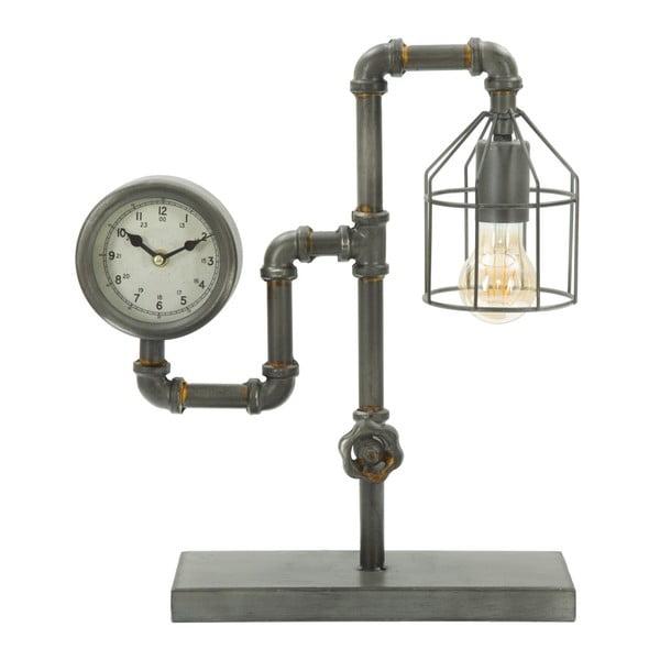 Stolová lampa s hodinami Mauro Ferretti Industry Clock, 38,5 × 43,2 cm