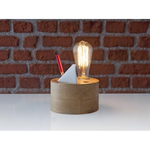 Dřevěná stolní lampa se stojánkem Facundo