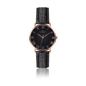 Pánské hodinky s černým páskem z pravé kůže Frederic Graff Rose Dom Croco Black Leather