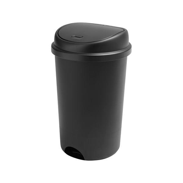 Coș de gunoi cu capac Addis, înălțime 64,5 cm, negru