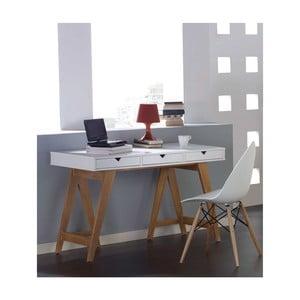 Bílý konzolový stolek z borovicového dřeva SOB Gaudino