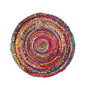 Barevný koberec z konopného vlákna Cotex Rondo, ø 60 cm