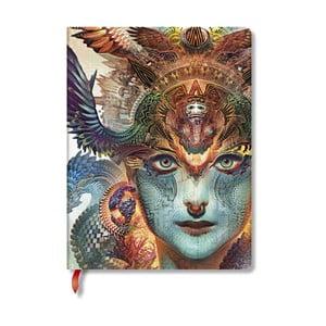Caiet cu copertă tare Paperblanks Dharma, 18 x 23 cm