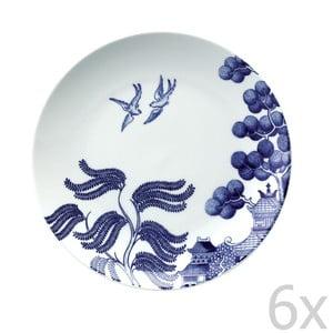 Sada 6 porcelánových talířů Willow Love Story, 21 cm