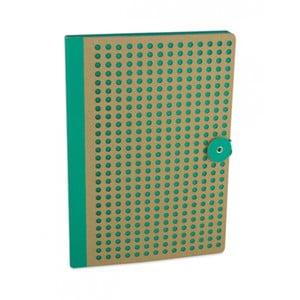Jurnal B5 Portico Designs Laser, verde