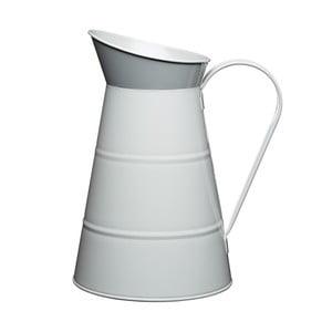 Plechový džbán Nostalgia 2300 ml, světle šedý